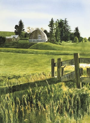 ... Prints (Limited Edition Giclée Reproductions.) / Country Round Barn