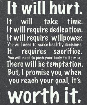 Dedication, Willpower & Sacrifice!