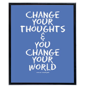 Blue Card Change Quote for Fb Share – Change Your Thoughts & you ...