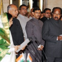 Veerappa Moily With Other Ministers