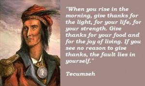 Prayer of Tecumseh Native American/ Shawnee Chief