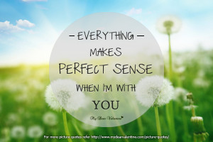 romantic love quotes for him everything makes perfect sense