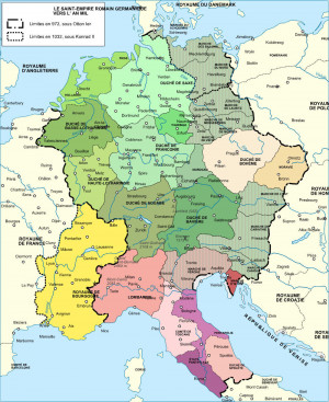 Holy Roman Empire Map Charlemagne Holy roman empire