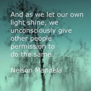 So let it shine!