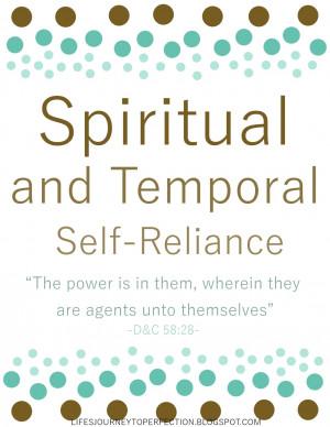 Spiritual and Temporal Self-Reliance