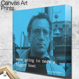 roy scheider jaws quote square wall art