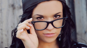Beautiful Girl With Glasses...