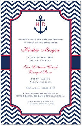 Couples Shower Invitations, Sailing into Marriage, 11882