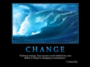 Motivational wallpaper on Change : Embrace change true Success