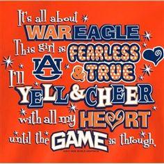 auburn tigers girl quotes   Auburn Tigers T-Shirts - Yell & Cheer ...