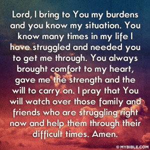 May God give you comfort in your suffering, and words of comfort to ...
