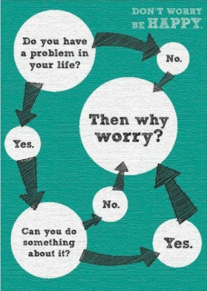 Don't worry, be happy. Flow chart.