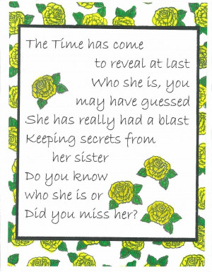 Secret Sister And Sunflower Friends