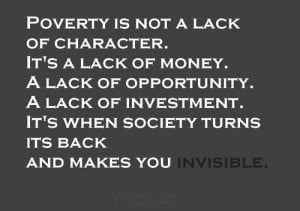 Quote on poverty and society - by Yozgat