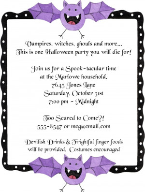 Shop our Store > Cute Whimsy Bat Halloween Party Invitations