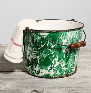 Check out this awesome green bucket .