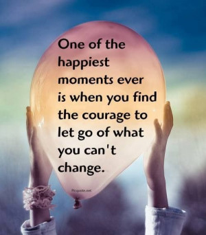 Letting go of what u cannot change