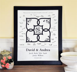 Blended Family Wedding Guest Canvas Signature Frame
