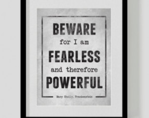 Frankenstein Quote Prin t - Inspirational Print, Literary Quote ...