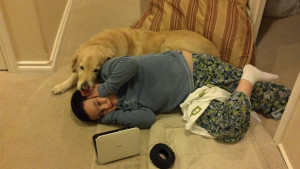 My younger brother has Fragile X and Autism. Our dog Jack is his best ...