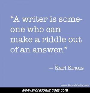 Karl kraus quotes...