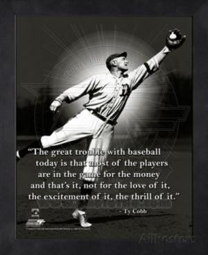 Ty Cobb, Detroit Tigers, ProQuote Framed Memorabilia