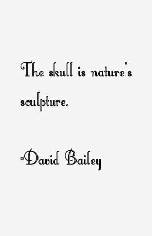 The skull is nature's sculpture.""