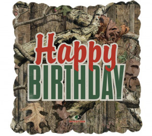 Mossy Oak Camouflage Happy Birthday Balloon #burtonandburton
