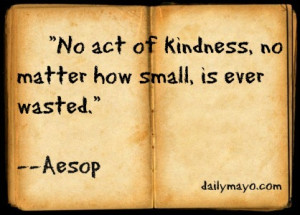 Quote: Aesop on Kindness