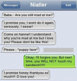 Text Messages Bf/Gf | How To Make Your BF/GF Forgive You After A Fight ...