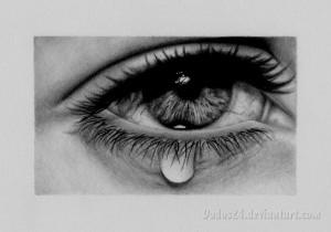 Eye with Tear Drawing