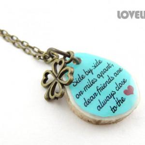 Best Friend Going Away Gift - Custom Friendship Necklace, Best Friends ...