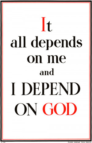 Home > Products > It All Depends on Me and I Depend on God