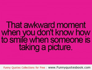 Awkward moment when taking a picture