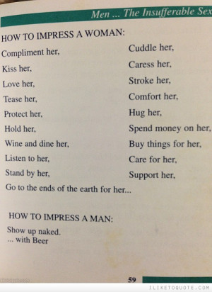 How to impress a woman. How to impress a man.