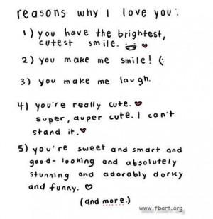 reasons why i love you # i love you because # i love you # love ...