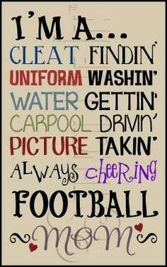 Football Mom Quotes | Posters, Quotes, Sayings... More