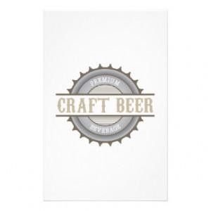 Craft Beer Stationery Design