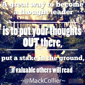 Mack Collier Thought Leader Quote