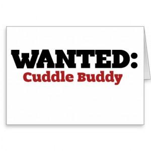 Blank Cuddle Buddy Application Cuddle buddy wanted greeting