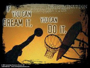 basketball quotes | DETERMINATION - If You Can Dream It, You Can Do It ...
