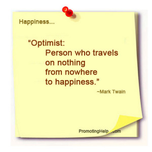 ... Person who travels on nothing from nowhere to happiness.