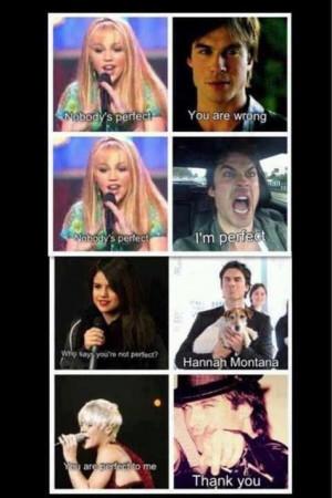 Selena Gomez, Damon Salvatore, Damon Salvation, Hannah Montana, Cute ...