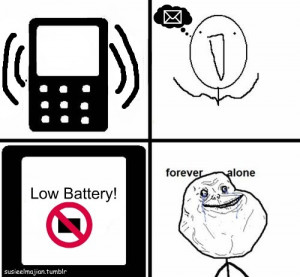 black, forever alone, funny, low battery, message, phone, ring, sad ...