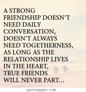 True friends will never part | Quotes About Life