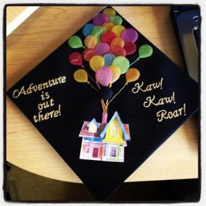 ! Grad Cap, Head Of Garlic, Graduation Cap Disney, Up Graduation Cap ...