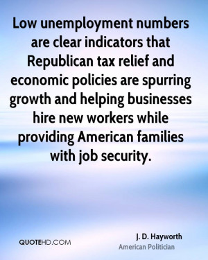 are clear indicators that Republican tax relief and economic policies ...