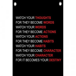 Watch Your Thoughts - Motivational Quotes - Wall Quotes Canvas Banner