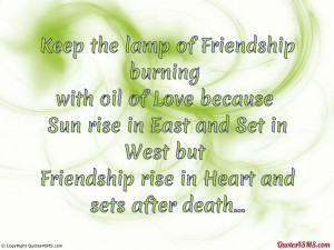 Friendship And Love Quotes Keep the lamp of friendship
