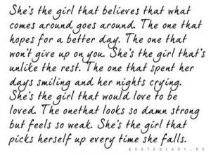 She's the girl... perfect description!